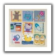 ArtWall Baby Icons Unwrapped Flat Canvas Art By Maria Carluccio, 14 x 14