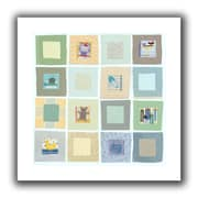 ArtWall Baby's Squares Unwrapped Flat Canvas Art By Maria Carluccio, 18 x 18