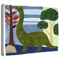 ArtWall in.Green Dinoin. Gallery Wrapped Canvas Arts By Maria Carluccio