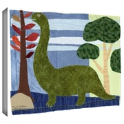 "ArtWall ""Green Dino"" Gallery Wrapped Canvas Art By Maria Carluccio, 36"" x 48"""