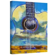 "ArtWall ""Guitar and Clouds"" Gallery Wrapped Canvas Arts By Michael Creese"