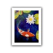 "ArtWall ""Kohaku Koi and Water Lily"" Unwrapped Canvas Art By Michael Creese, 48"" x 36"""