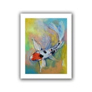 "ArtWall ""Maruten Butterfly Koi"" Unwrapped Canvas Arts By Michael Creese"