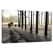 "ArtWall ""Winter Walk"" Gallery Wrapped Canvas Art By Cynthia Decker, 12"" x 24"""