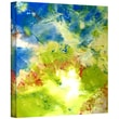 "ArtWall ""Abstract 236"" Gallery Wrapped Canvas Arts With Floral Colors by Herb Dickinson"