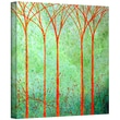 ArtWall in.Apricot Forestin. Gallery Wrapped Canvas Art By Herb Dickinson, 18in. x 18in.
