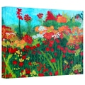 ArtWall in.Cheryl's Gardenin. Gallery Wrapped Canvas Arts By Herb Dickinson
