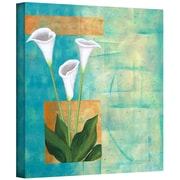 "ArtWall ""Floral White"" Gallery Wrapped Canvas Art By Herb Dickinson, 24"" x 24"""