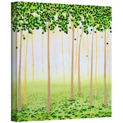 "ArtWall ""Misty Morning Forest"" Gallery Wrapped Canvas Art By Herb Dickinson, 24"" x 24"""