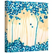 "ArtWall ""Turquoise Forest I"" Gallery Wrapped Canvas Art By Herb Dickinson, 14"" x 14"""