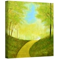 ArtWall in.Winding Roadin. Gallery Wrapped Canvas Arts By Herb Dickinson