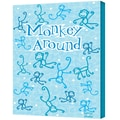 ArtWall in.Monkey Aroundin. Gallery Wrapped Canvas Arts By Felittle People