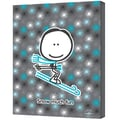 ArtWall in.Snow Much Fun Boyin. Gallery Wrapped Canvas Arts By Felittle People