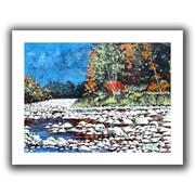 """ArtWall """"Pebble Creek"""" Flat Unwrapped Canvas Art By Gene Foust, 18"""" x 24"""""""