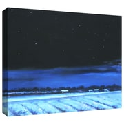 """ArtWall """"Snowy Nights"""" Gallery Wrapped Canvas Arts By Gene Foust"""