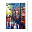 "ArtWall ""8 O'clock Street Lights"" Unwrapped Canvas Arts By Susi Franco"