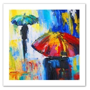 "ArtWall ""Red Umbrella"" Unwrapped Canvas Art By Susi Franco, 14"" x 14"""