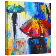 "ArtWall ""Red Umbrella"" Gallery Wrapped Canvas Art By Susi Franco, 14"" x 14"""