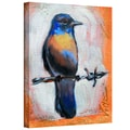ArtWall in.Bird on a Wirein. Gallery Wrapped Canvas Arts By Susi Franco