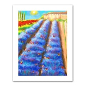 """ArtWall """"Provence Rows"""" Unwrapped Canvas Art By Susi Franco, 18"""" x 14"""""""
