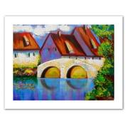 "ArtWall ""German Village on Rhine"" Unwrapped Canvas Art By Susi Franco, 18"" x 24"""