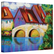 "ArtWall ""German Village on Rhine"" Gallery Wrapped Canvas Art By Susi Franco, 24"" x 32"""