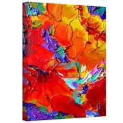 """ArtWall """"Charlits Floral"""" Gallery Wrapped Canvas Art By Susi Franco, 18"""" x 14"""""""