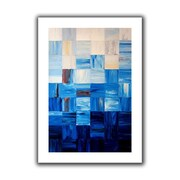 "ArtWall ""Bluesquares"" Flat Unwrapped Canvas Arts By Shiela Gosselin"