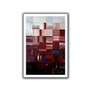 "ArtWall ""Redsquares"" Flat Unwrapped Canvas Arts By Shiela Gosselin"
