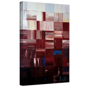 "ArtWall ""Redsquares"" Gallery Wrapped Canvas Arts By Shiela Gosselin"
