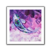 ArtWall Purple Koi Flat Unwrapped Canvas Art By Shiela Gosselin, 14 x 14