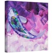 """ArtWall """"Purple Koi"""" Gallery Wrapped Canvas Art By Shiela Gosselin, 14"""" x 14"""""""