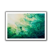 ArtWall Green Watery Abstract Flat Unwrapped Canvas Art By Shiela Gosselin, 24 x 36