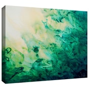 "ArtWall ""Green Watery Abstract"" Gallery Wrapped Canvas Art By Shiela Gosselin, 16"" x 24"""