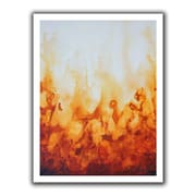 "ArtWall ""Amber Flame"" Flat Unwrapped Canvas Art By Shiela Gosselin, 14"" x 18"""