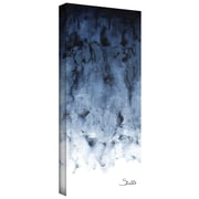 "ArtWall ""Blue Watery"" Gallery Wrapped Canvas Art By Shiela Gosselin, 16"" x 48"""
