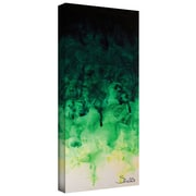 "ArtWall ""Green Watery"" Gallery Wrapped Canvas Art By Shiela Gosselin, 12"" x 36"""