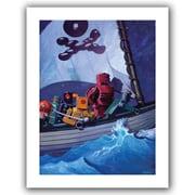 "ArtWall ""Rob Pirates"" Unwrapped Canvas Art By Eric Joyner, 24"" x 32"""