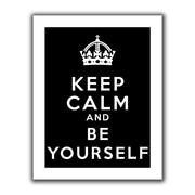 ArtWall Keep Calm and be Yourself Flat Unwrapped Canvas Art By Art D. Signer, 14 x 18