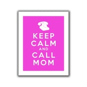 """ArtWall """"Keep Calm and Call Mom"""" Flat Unwrapped Canvas Art By Art D. Signer, 18"""" x 24"""""""