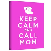 "ArtWall ""Keep Calm and Call Mom"" Gallery Wrapped Canvas Art By Art D. Signer, 14"" x 18"""