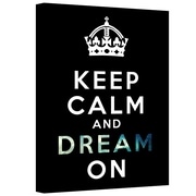 "ArtWall ""Keep Calm and Dream On"" Gallery Wrapped Canvas Art By Art D. Signer, 36"" x 48"""