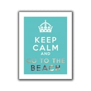 "ArtWall ""Keep Calm and Go to The Beach"" Flat Unwrapped Canvas Art By Art D. Signer, 24"" x 32"""