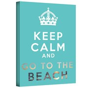 "ArtWall ""Keep Calm and Go to The Beach"" Gallery Wrapped Canvas Art By Art D. Signer, 14"" x 18"""