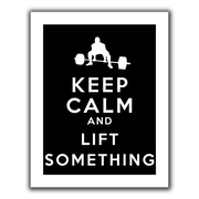 "ArtWall ""Keep Calm and Lift Something"" Canvas Art By Art D. Signer, 18"" x 24"""