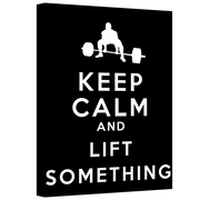 "ArtWall ""Keep Calm and Lift Something"" Gallery Wrapped Canvas Art By Art D. Signer, 36"" x 48"""
