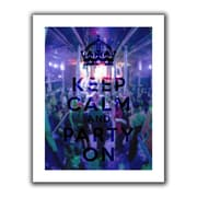 "ArtWall ""Keep Calm and Party On"" Flat Unwrapped Canvas Art By Art D. Signer, 14"" x 18"""