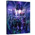 ArtWall in.Keep Calm and Party Onin. Gallery Wrapped Canvas Arts By Art D. Signer