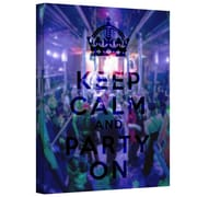 "ArtWall ""Keep Calm and Party On"" Gallery Wrapped Canvas Art By Art D. Signer, 24"" x 32"""