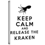 "ArtWall ""Keep Calm and Release The Kraken"" Gallery Wrapped Canvas Art By Art D. Signer, 14"" x 18"""